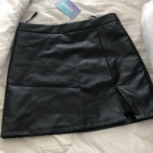 Shein Leather Skirt